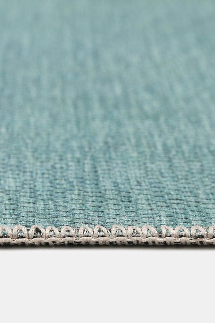 Kurzflor-Teppich mit upgecycelter Baumwolle, LIGHT BLUE, detail image number 5