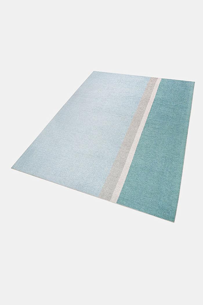 Kurzflor-Teppich mit upgecycelter Baumwolle, LIGHT BLUE, detail image number 4