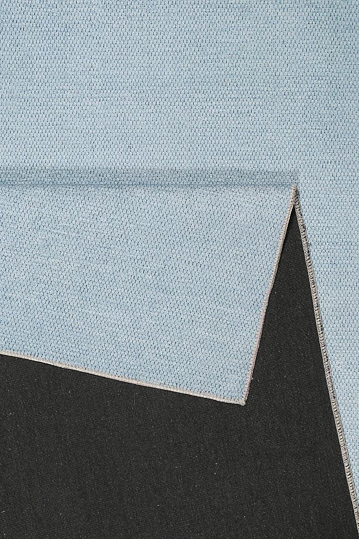 Kurzflor-Teppich mit upgecycelter Baumwolle, LIGHT BLUE, detail image number 2