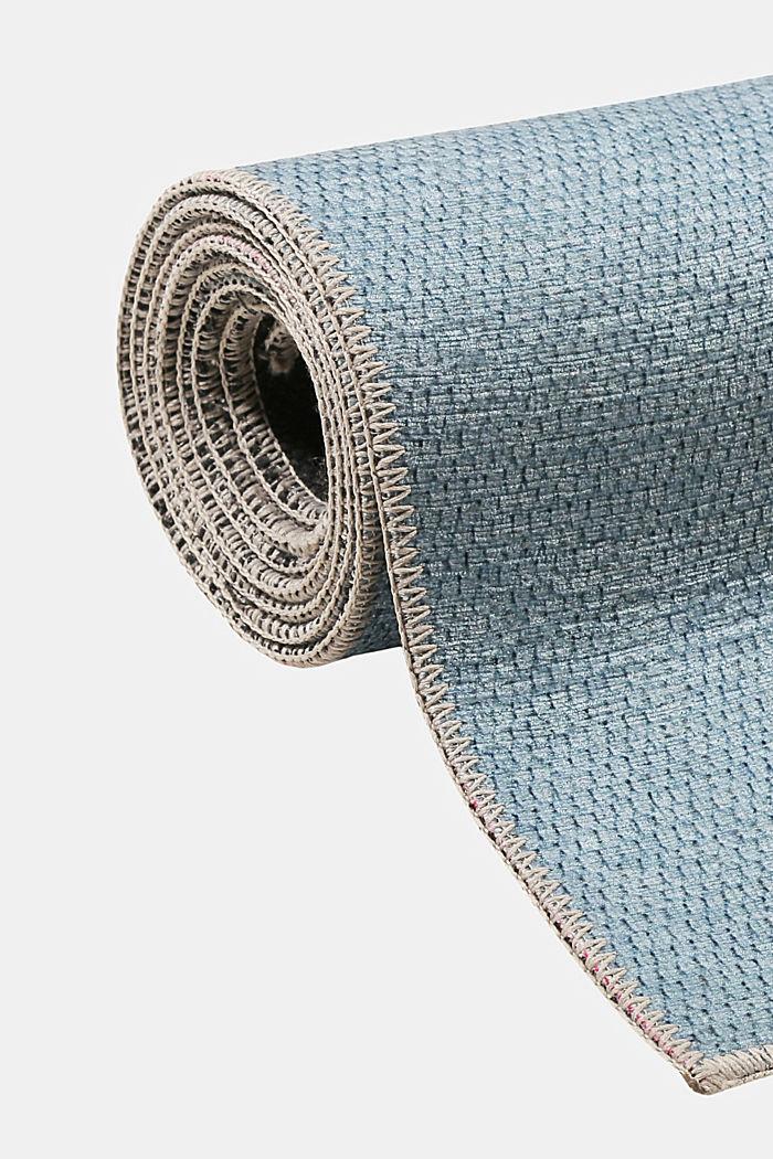 Kurzflor-Teppich mit upgecycelter Baumwolle, LIGHT BLUE, detail image number 3