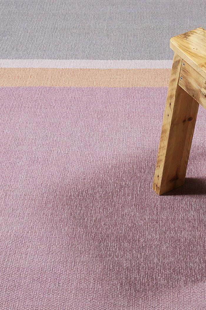 Kurzflor-Teppich mit upgecycelter Baumwolle, OLD PINK, detail image number 1