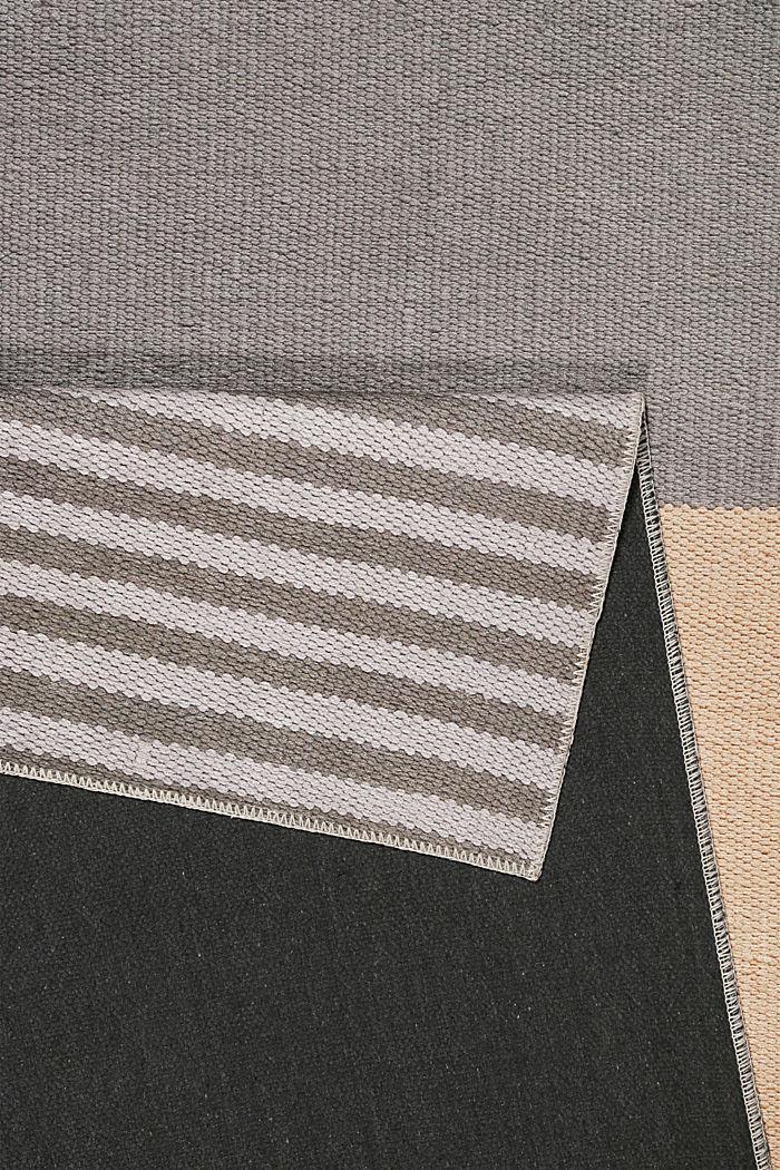 Kurzflor-Teppich mit upgecycelter Baumwolle, PEACH, detail image number 2