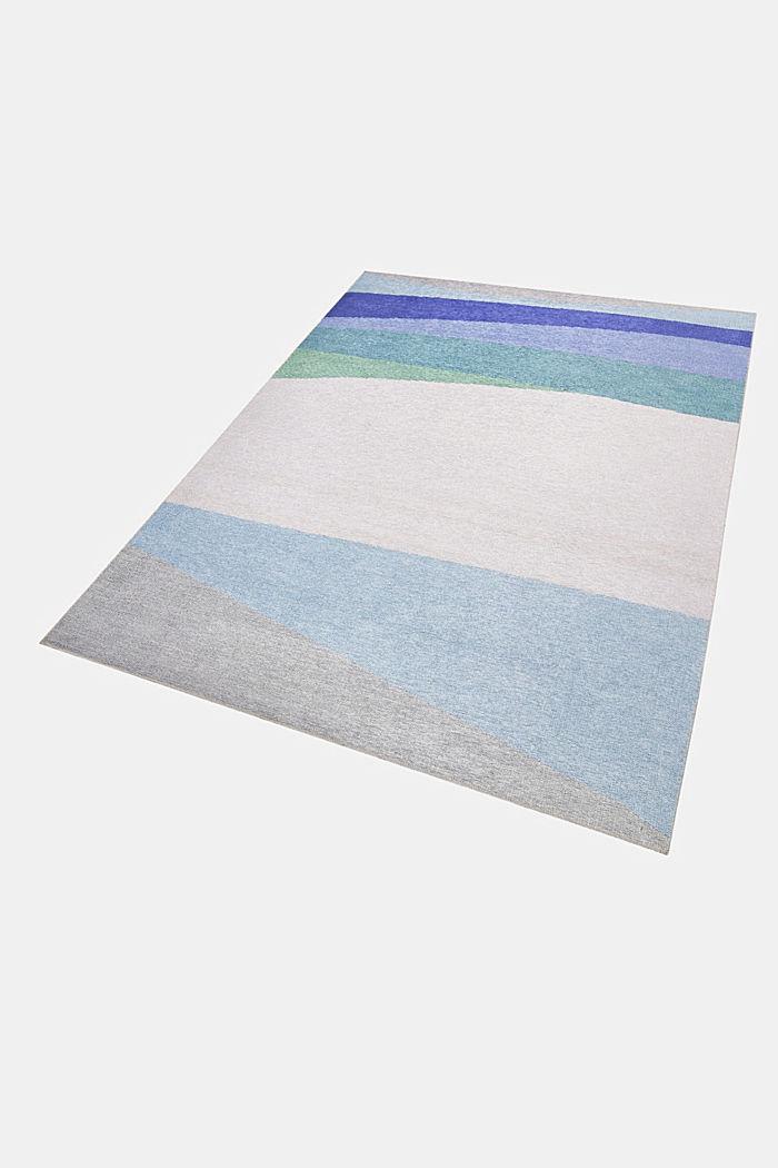 Kurzflor-Teppich mit upgecycelter Baumwolle, BLUE, detail image number 4