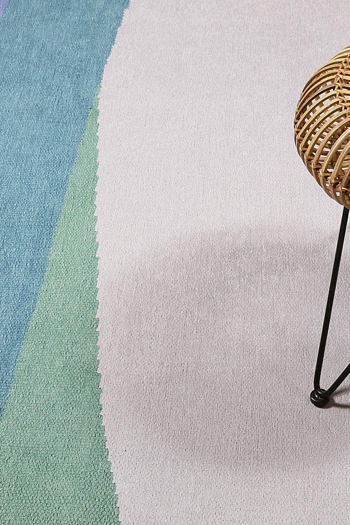 Kurzflor-Teppich mit upgecycelter Baumwolle, BLUE, detail image number 1