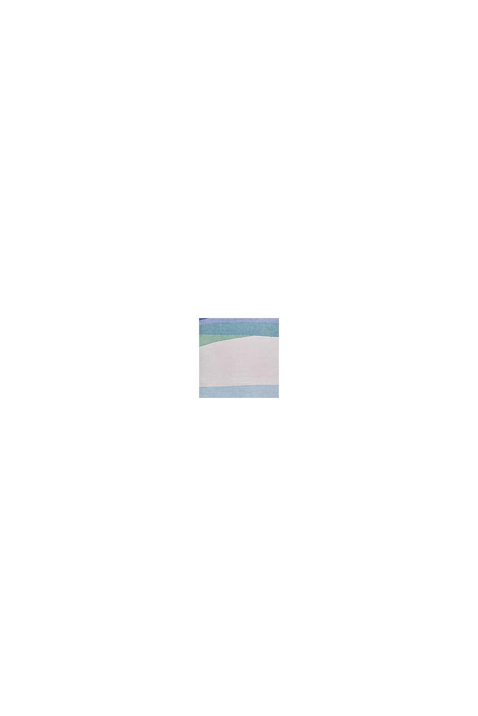 Kurzflor-Teppich mit upgecycelter Baumwolle, BLUE, swatch