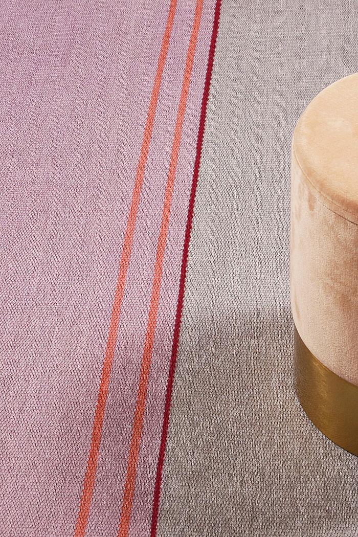 Kurzflor-Teppich mit upgecycelter Baumwolle, PASTEL PINK, detail image number 5