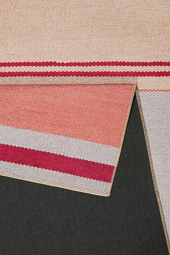 Kurzflor-Teppich mit upgecycelter Baumwolle, PASTEL PINK, detail image number 2