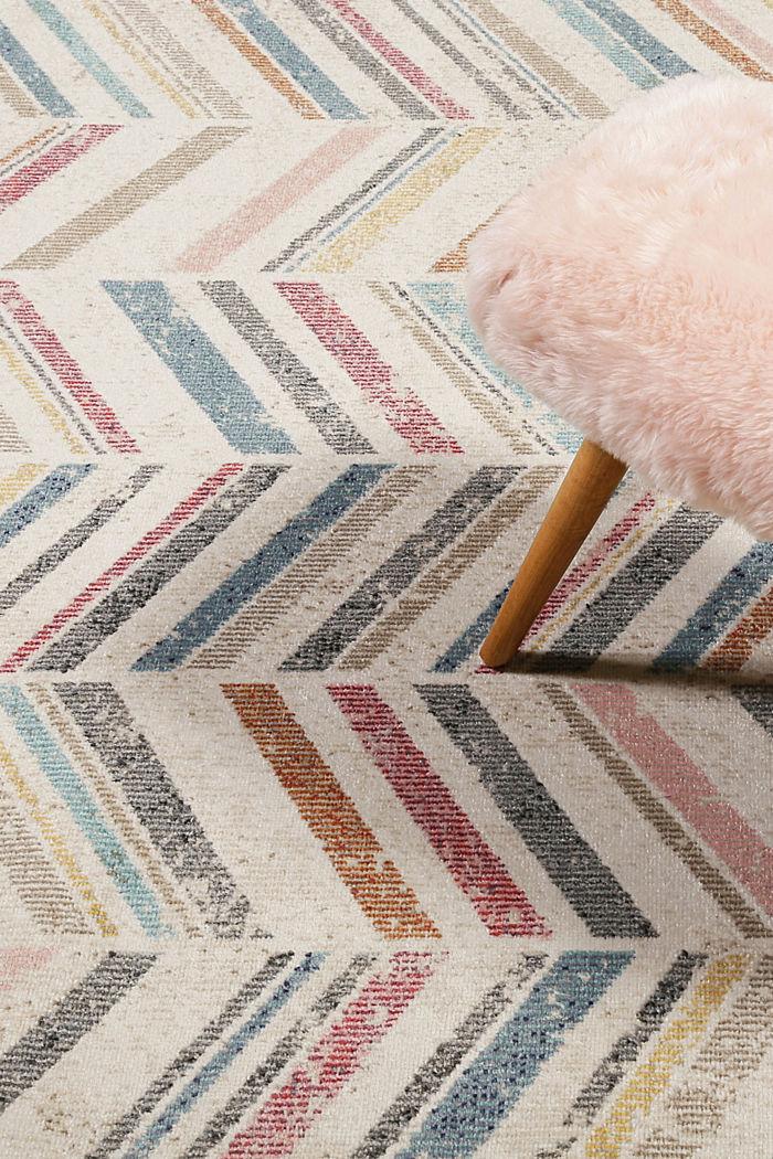 Kurzflor-Teppich mit Zickzack-Muster