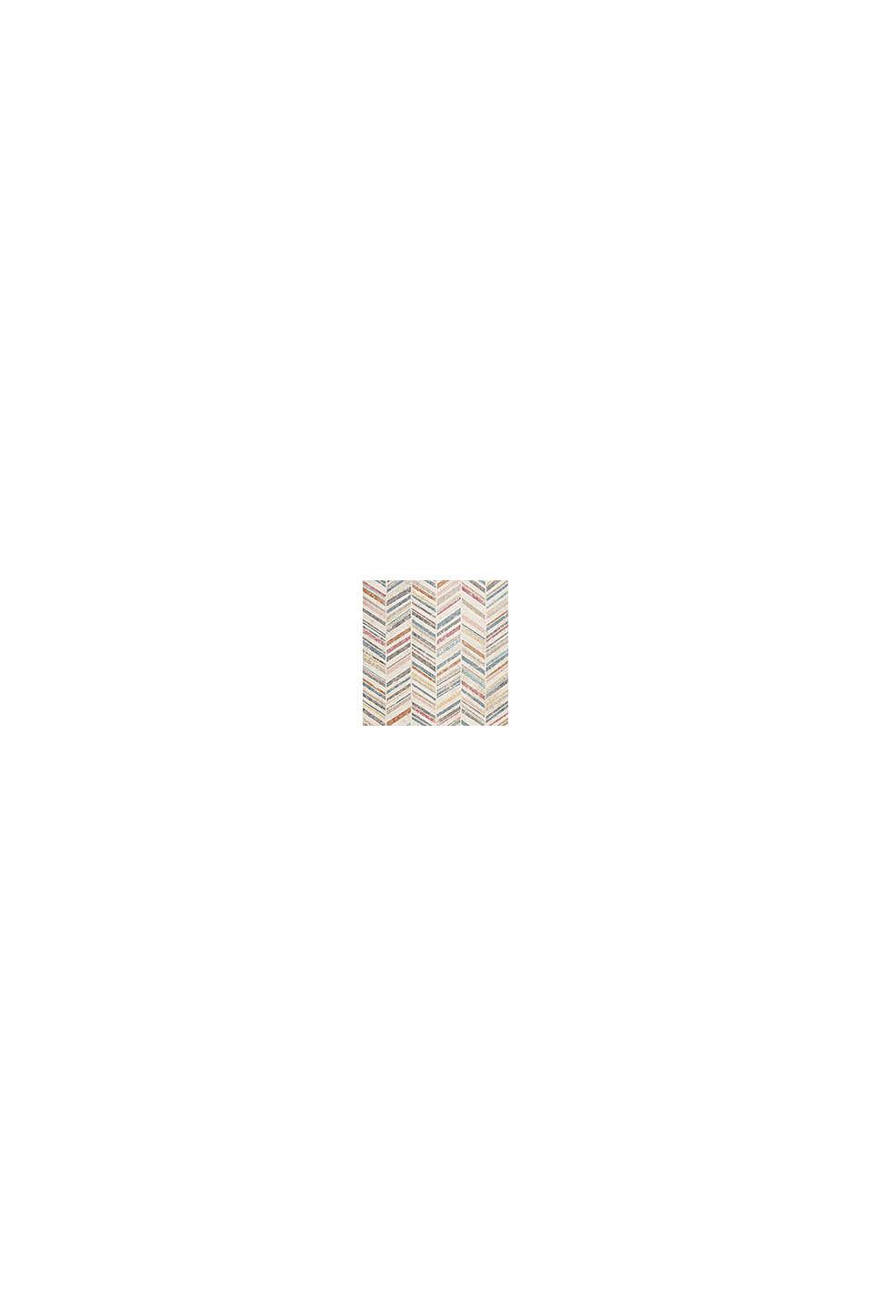 Kurzflor-Teppich mit Zickzack-Muster, BEIGE, swatch