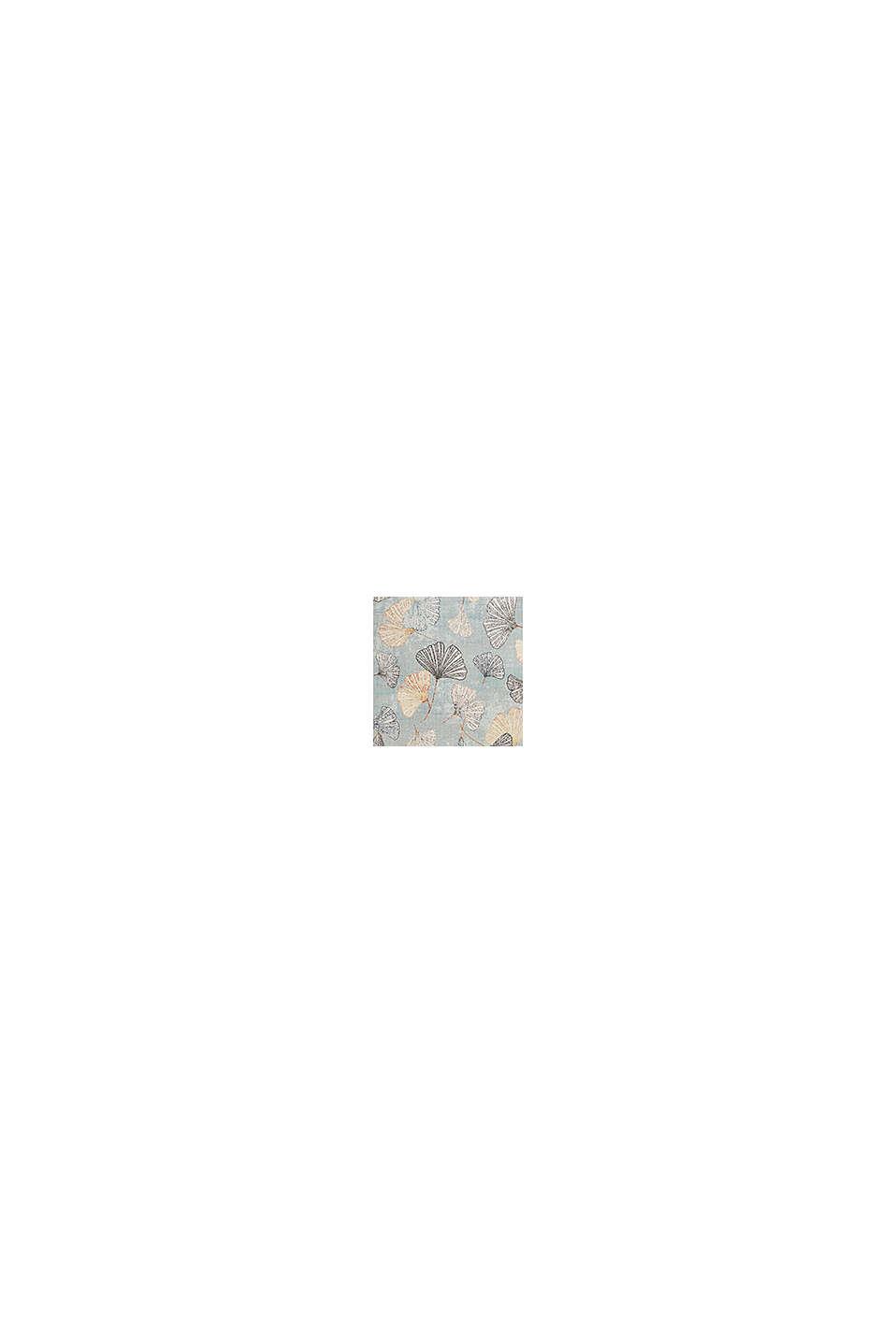 Kurzflor-Teppich mit Ginko-Blättern, LIGHT BLUE, swatch