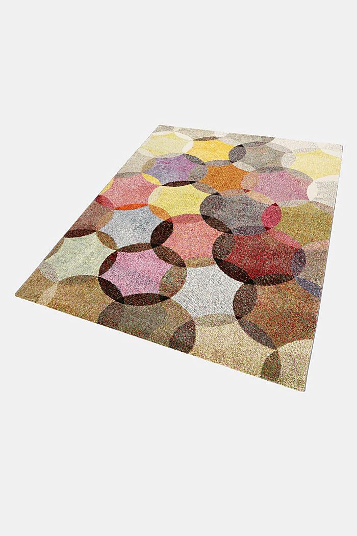 Kurzflor-Teppich mit symmetrischem Muster, BEIGE, detail image number 4