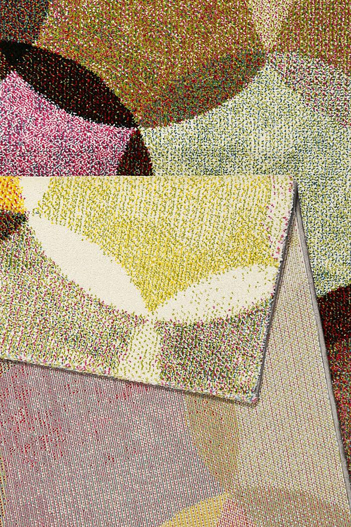 Kurzflor-Teppich mit symmetrischem Muster, BEIGE, detail image number 2