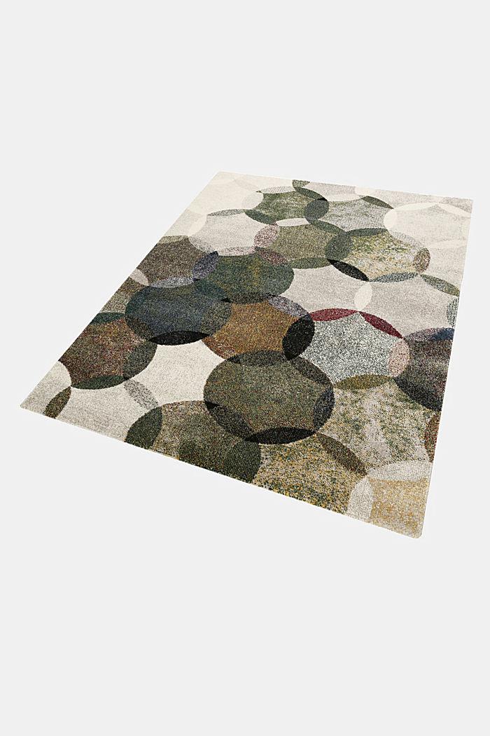 Kurzflor-Teppich mit symmetrischem Muster, OLIVE, detail image number 4