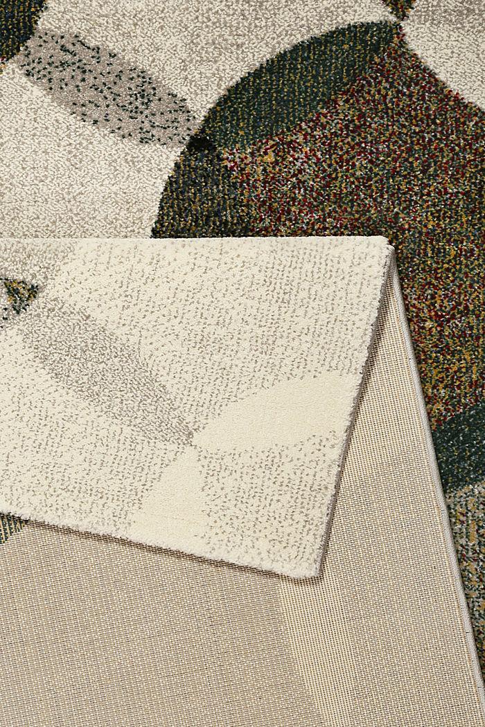 Kurzflor-Teppich mit symmetrischem Muster, OLIVE, detail image number 2