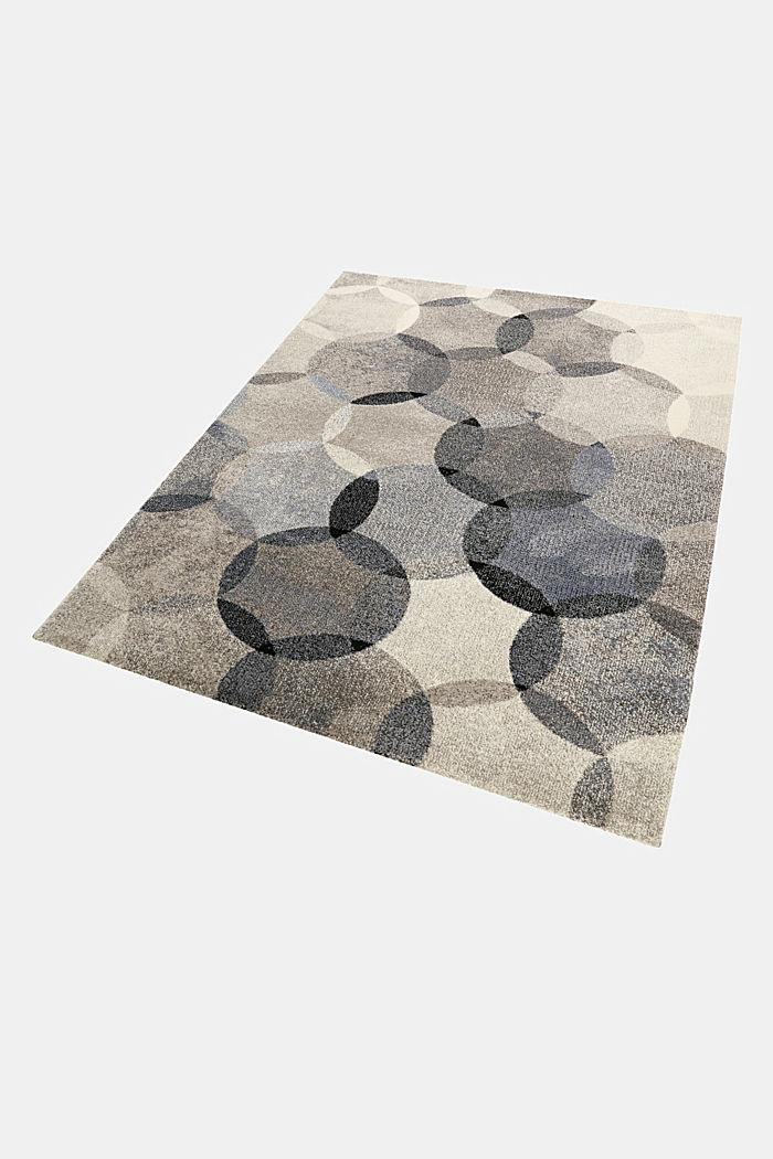 Kurzflor-Teppich mit symmetrischem Muster, BLUE, detail image number 4