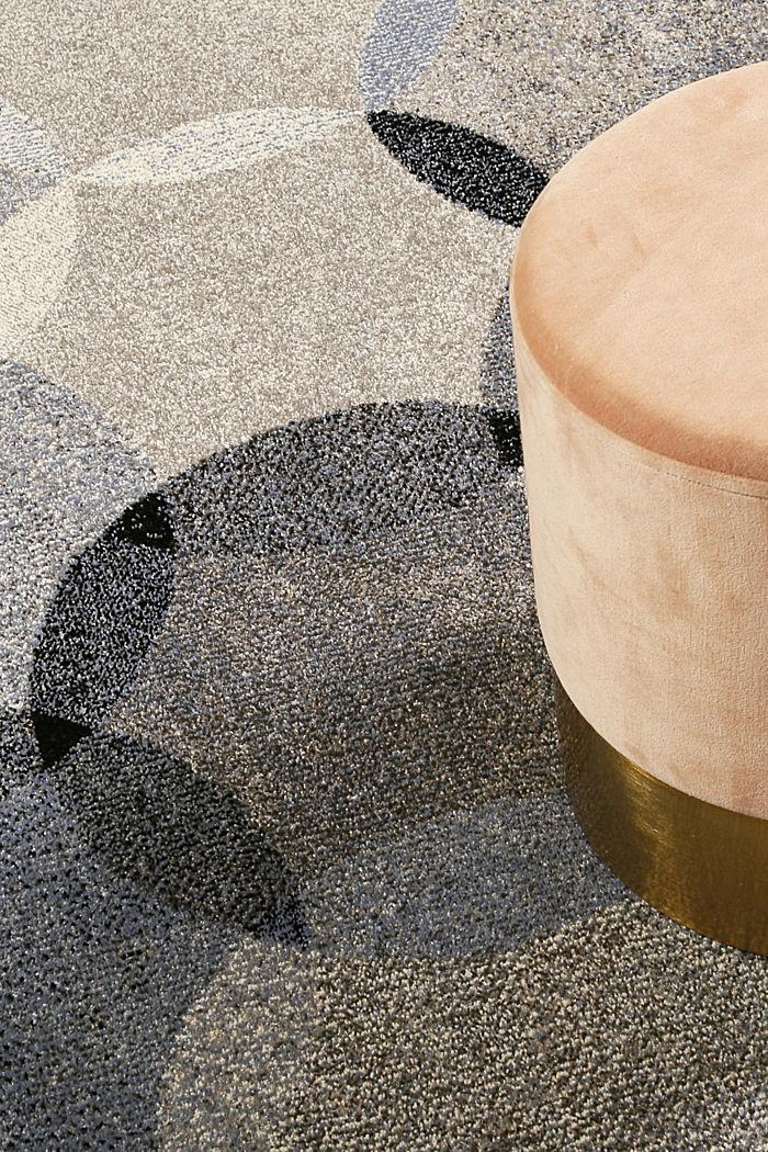 Kurzflor-Teppich mit symmetrischem Muster, BLUE, detail image number 1