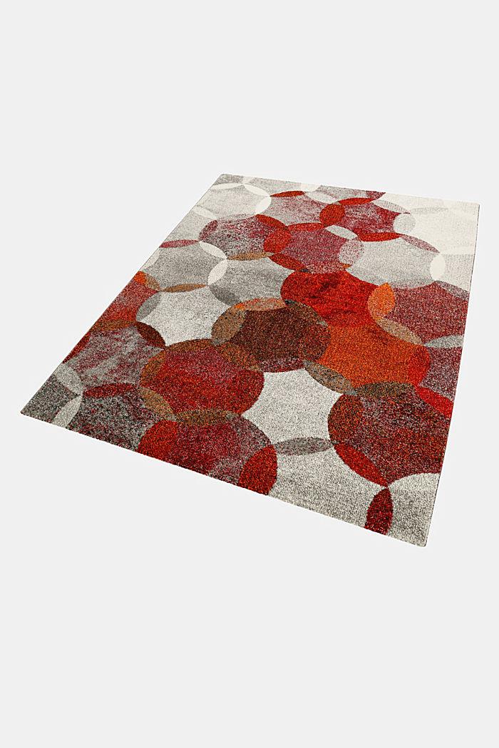 Kurzflor-Teppich mit symmetrischem Muster, ORANGE RED, detail image number 4