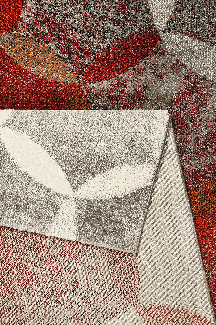 Kurzflor-Teppich mit symmetrischem Muster, ORANGE RED, detail image number 2