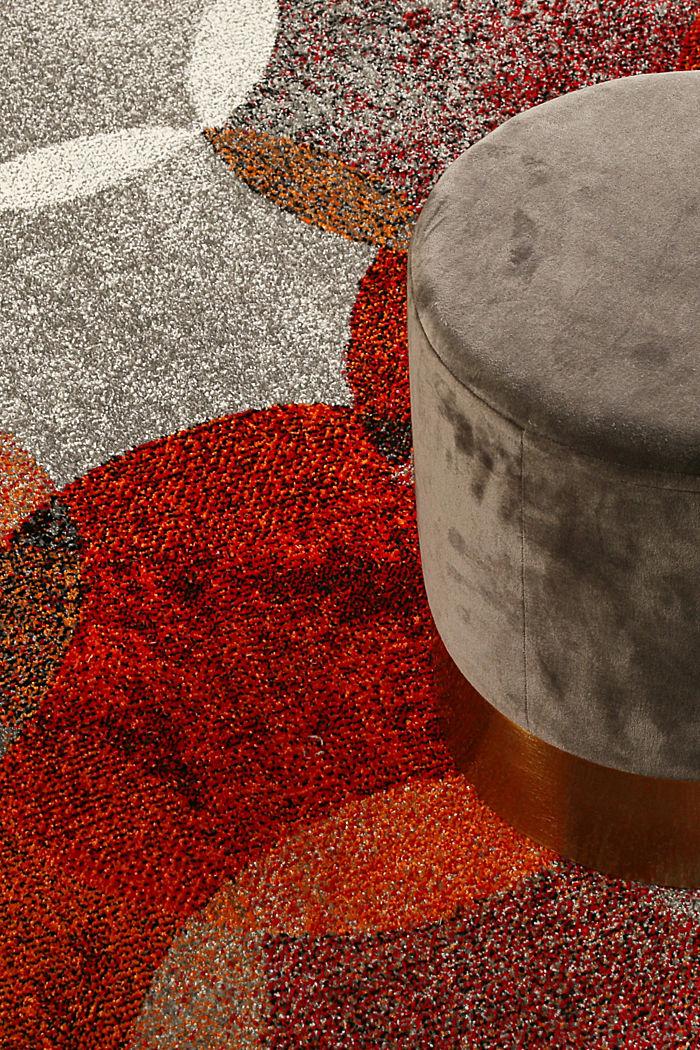 Kurzflor-Teppich mit symmetrischem Muster, ORANGE RED, detail image number 1