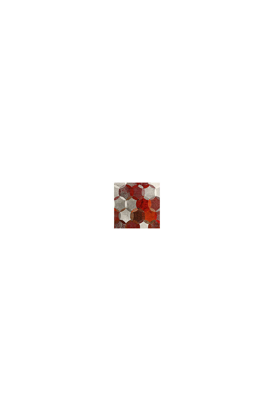 Kurzflor-Teppich mit symmetrischem Muster, ORANGE RED, swatch