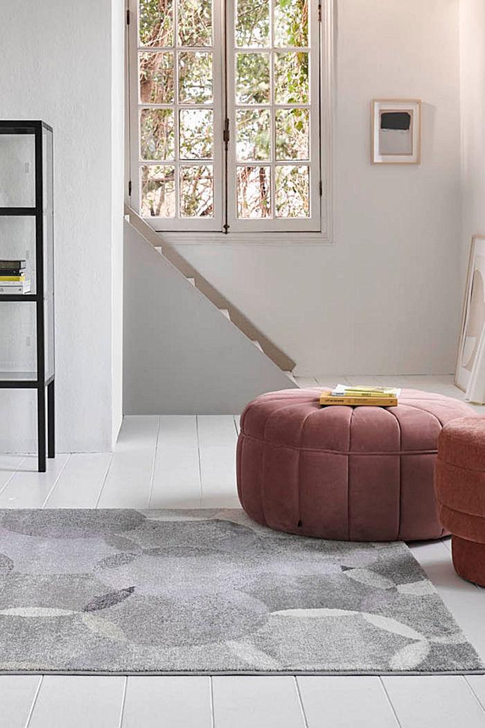 Kurzflor-Teppich mit symmetrischem Muster, PASTEL PINK, detail image number 0