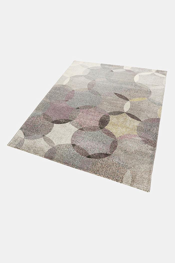 Kurzflor-Teppich mit symmetrischem Muster, PASTEL PINK, detail image number 4