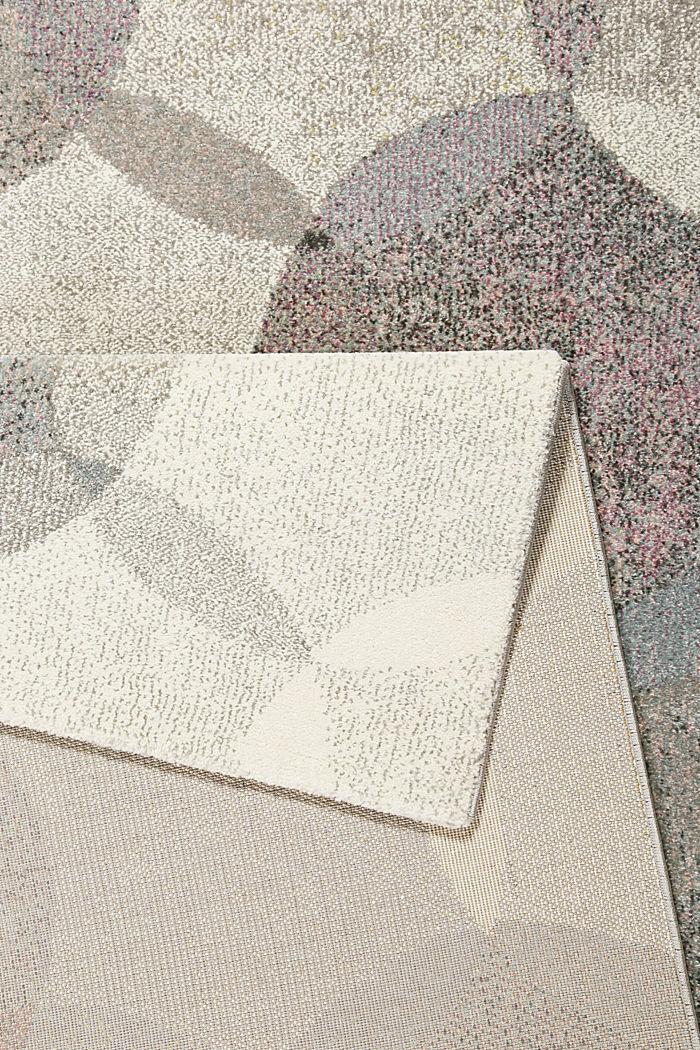 Kurzflor-Teppich mit symmetrischem Muster, PASTEL PINK, detail image number 2
