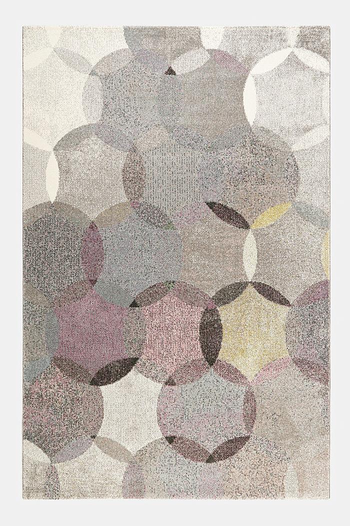 Kurzflor-Teppich mit symmetrischem Muster, PASTEL PINK, detail image number 3