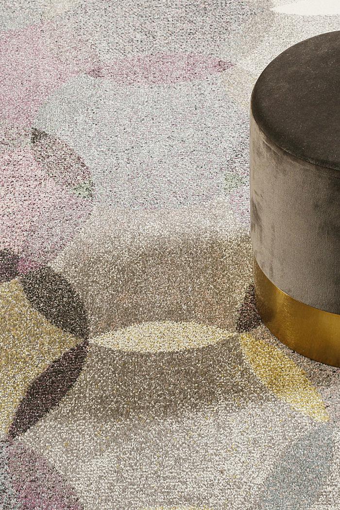 Kurzflor-Teppich mit symmetrischem Muster, PASTEL PINK, detail image number 1