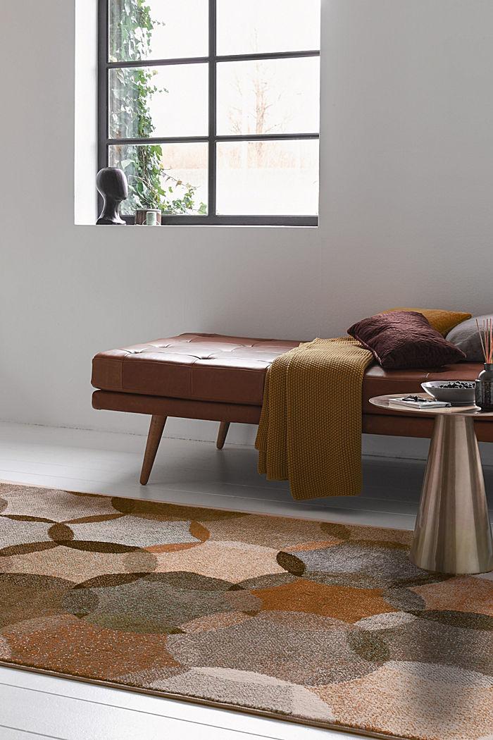 Kurzflor-Teppich mit geometrischem Muster
