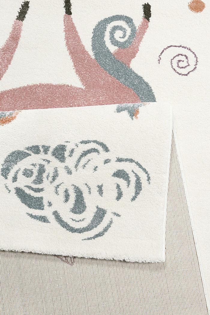 Kinder-Kurzflor Teppich mit Einhorn-Motiv, WHITE, detail image number 2
