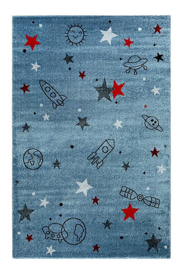Kurzflor-Kinderteppich mit Weltraum-Muster