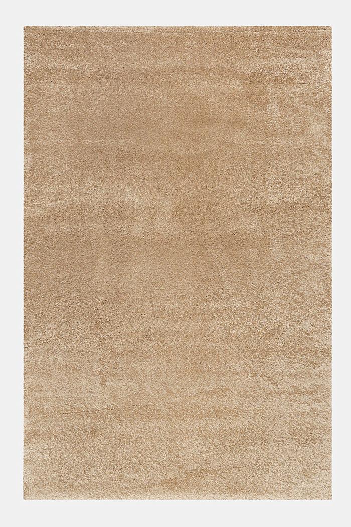 Web-Teppich, einfarbig und weich, BEIGE, detail image number 0
