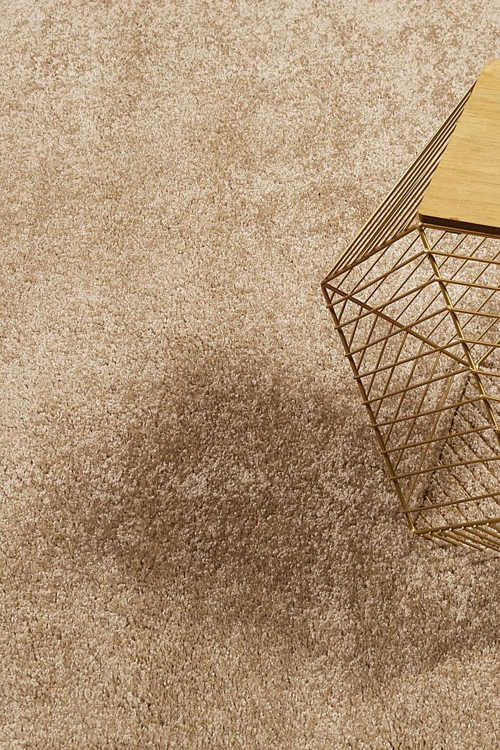 Web-Teppich, einfarbig und weich, BEIGE, detail image number 1