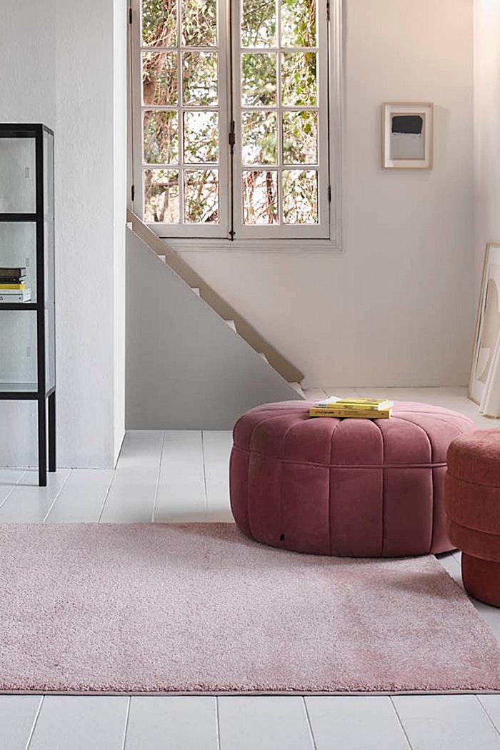 Web-Teppich, einfarbig und weich, LIGHT PINK, detail image number 3