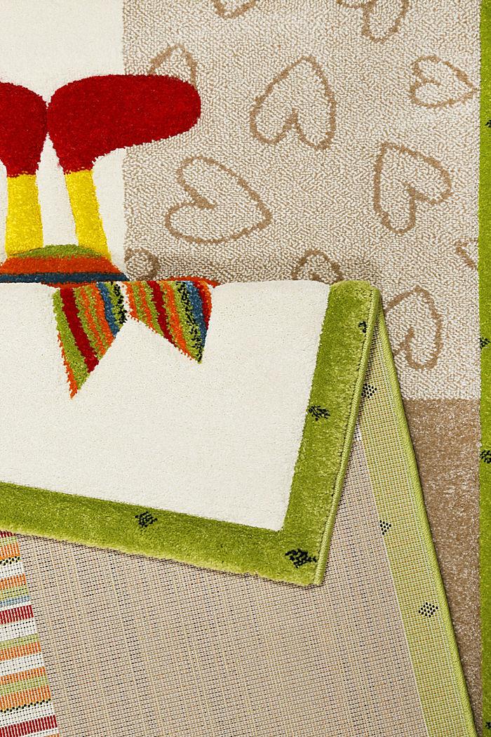 Kurzflor-Kinderteppich mit niedlichen Tieren, BEIGE, detail image number 2