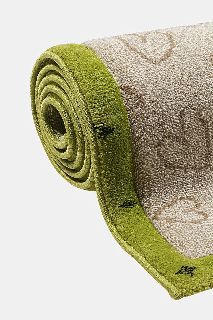 Kurzflor-Kinderteppich mit niedlichen Tieren, BEIGE, detail image number 3