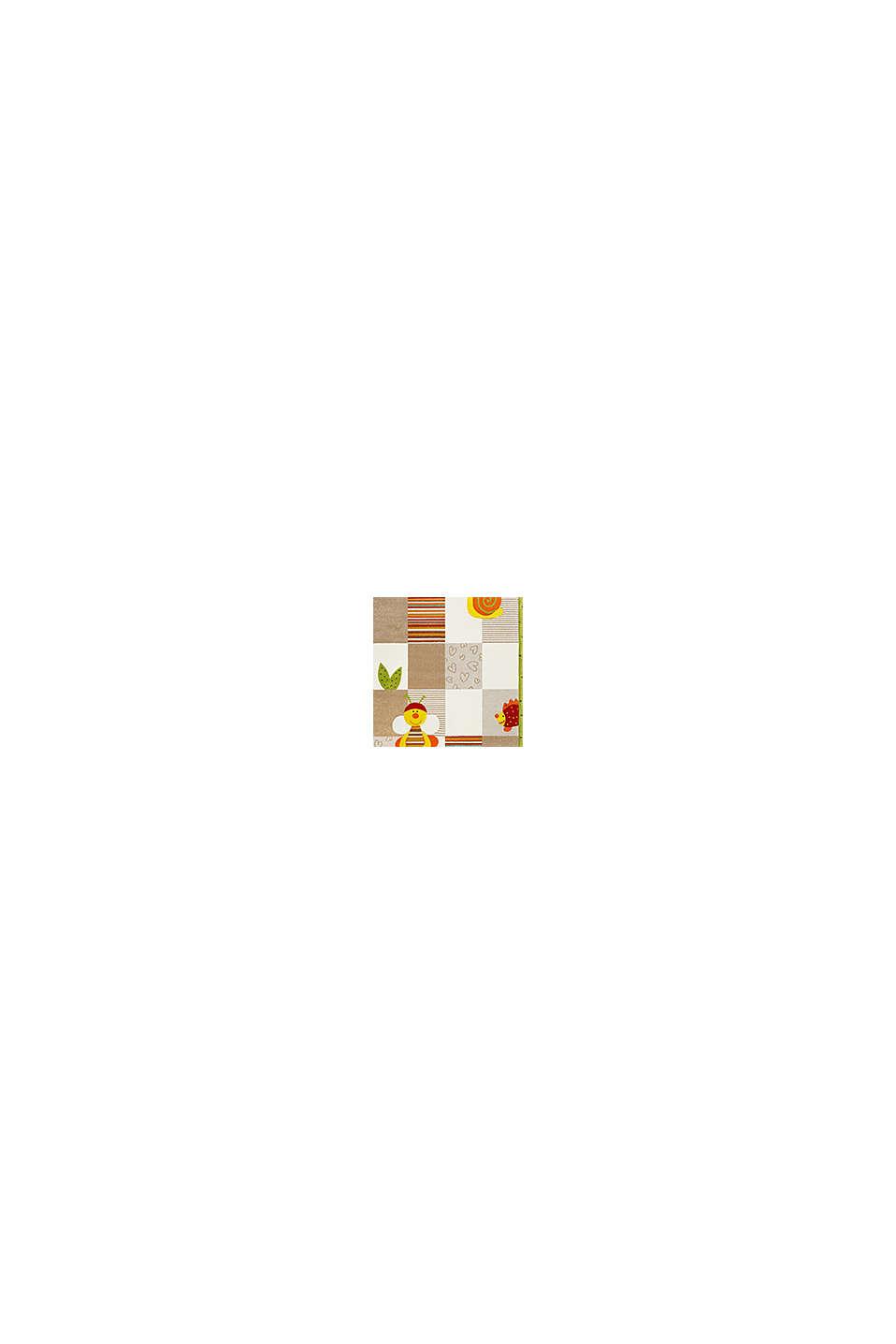 Kurzflor-Kinderteppich mit niedlichen Tieren, BEIGE, swatch