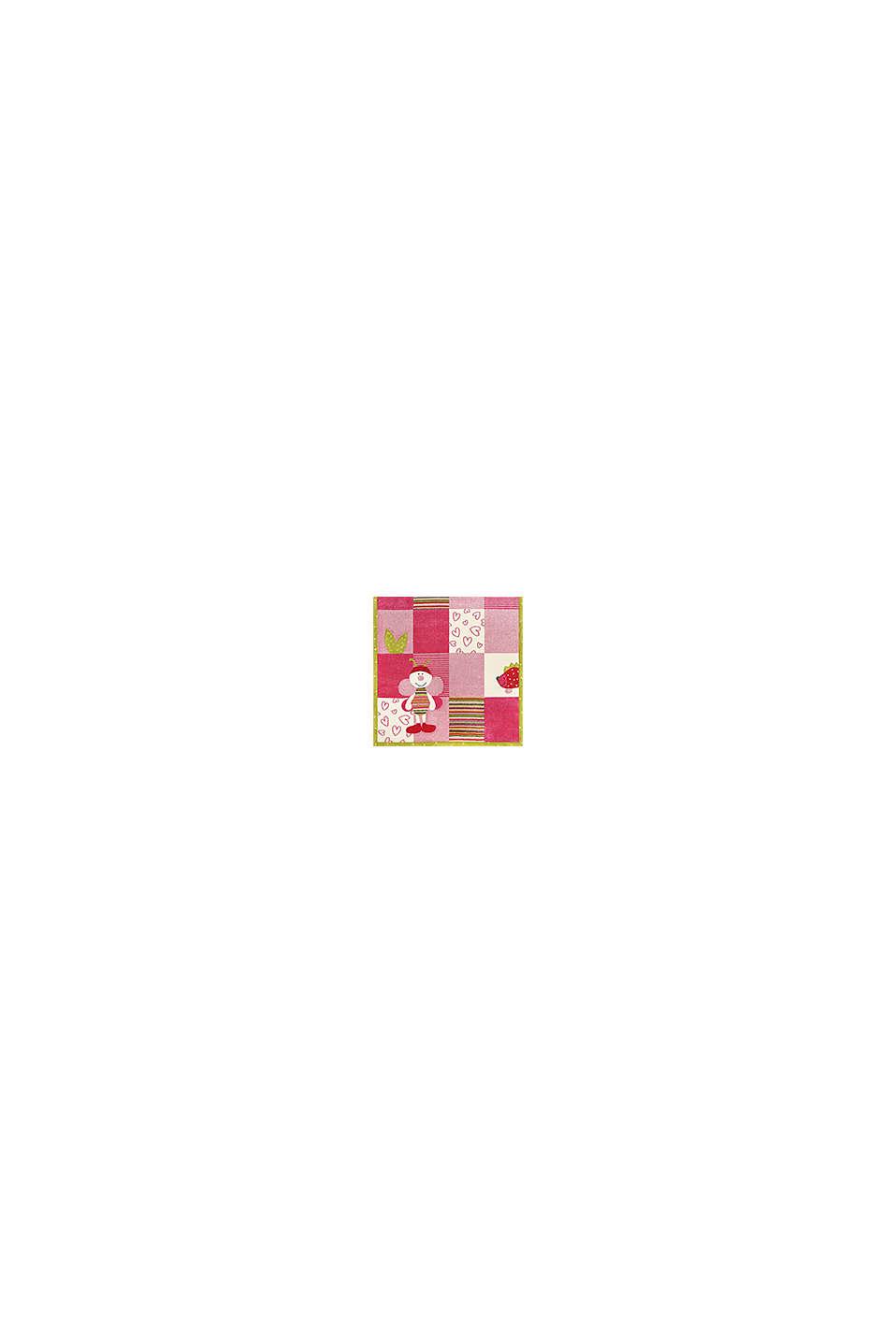 Kurzflor Kinderteppich mit niedlichen Tieren, PINK FUCHSIA, swatch