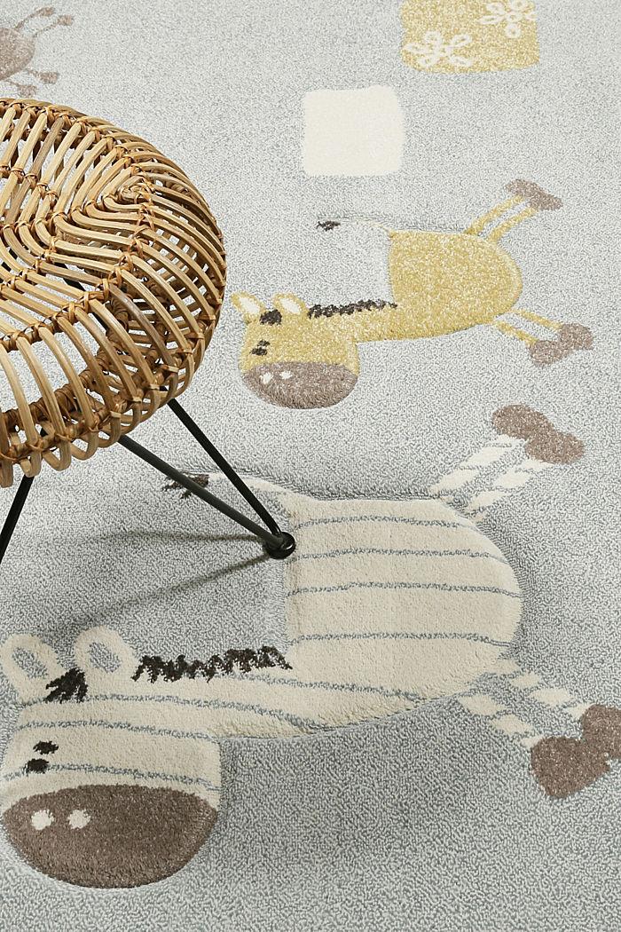 Web-Kinderteppich mit Konturenschnitt, PASTEL BLUE, detail image number 4