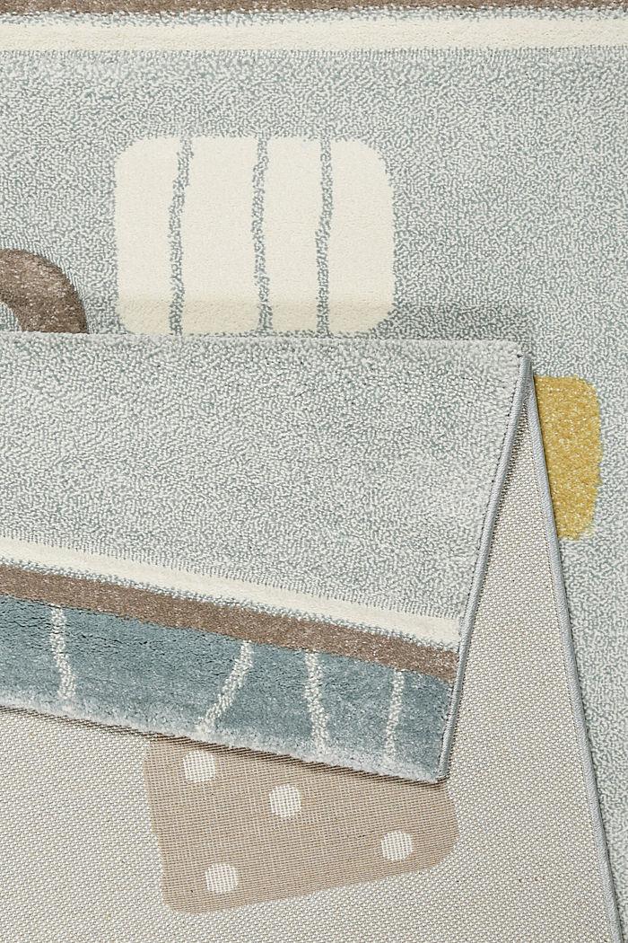 Web-Kinderteppich mit Konturenschnitt, PASTEL BLUE, detail image number 2