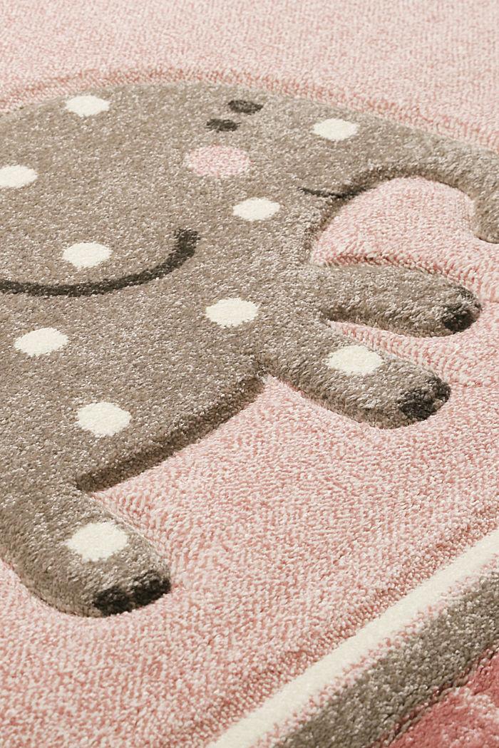 Web-Kinderteppich mit Konturenschnitt, LIGHT PINK, detail image number 4