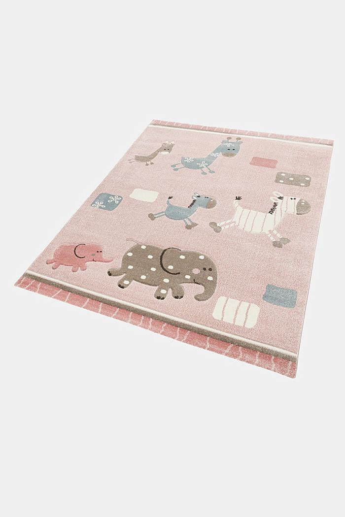 Web-Kinderteppich mit Konturenschnitt, LIGHT PINK, detail image number 6