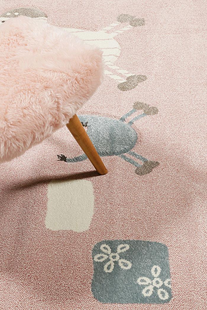 Web-Kinderteppich mit Konturenschnitt, LIGHT PINK, detail image number 1