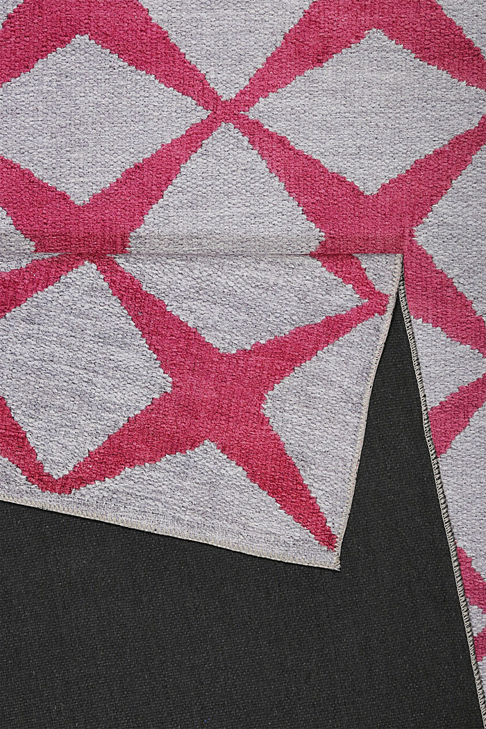 Kurzflor-Teppich mit upgecycelter Baumwolle, BORDEAUX RED, detail image number 2