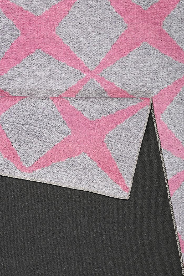 Kurzflor-Teppich mit upgecycelter Baumwolle, OLD PINK, detail image number 2