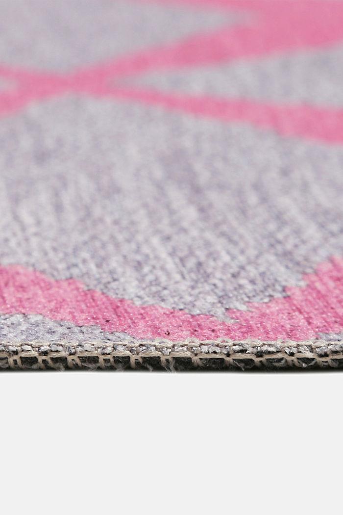 Kurzflor-Teppich mit upgecycelter Baumwolle, OLD PINK, detail image number 4