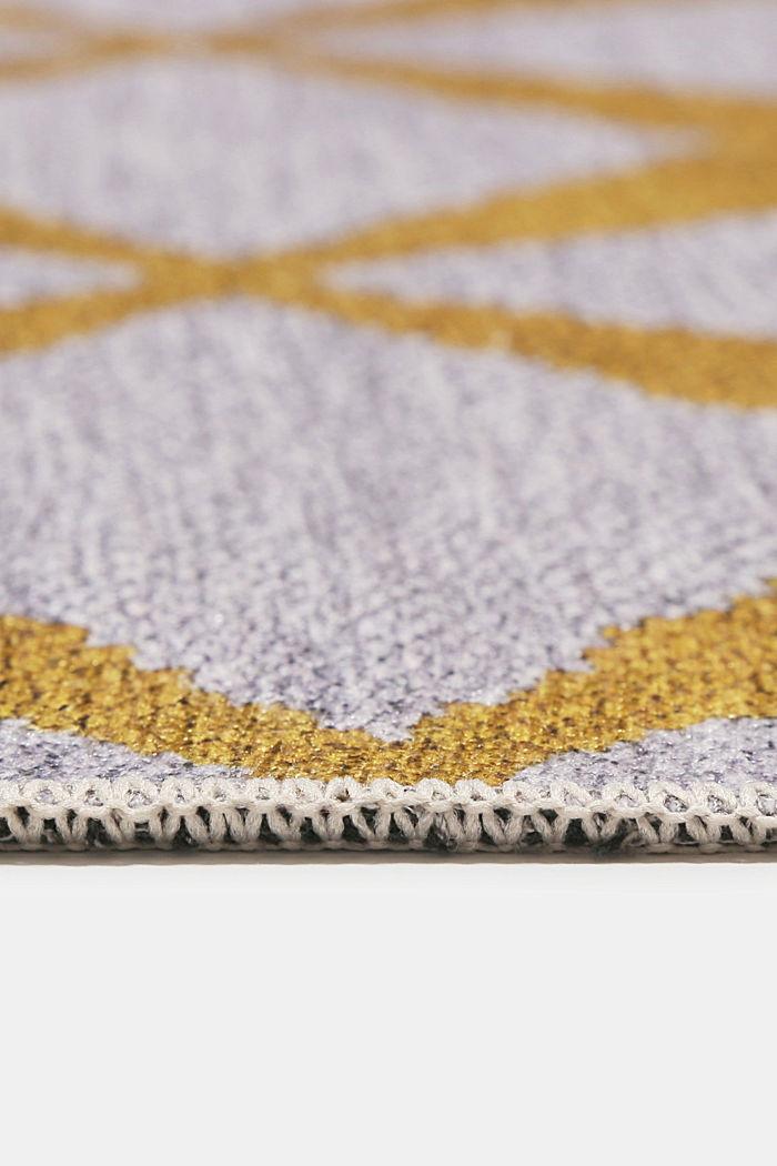 Kurzflor-Teppich mit upgecycelter Baumwolle, HONEY YELLOW, detail image number 5