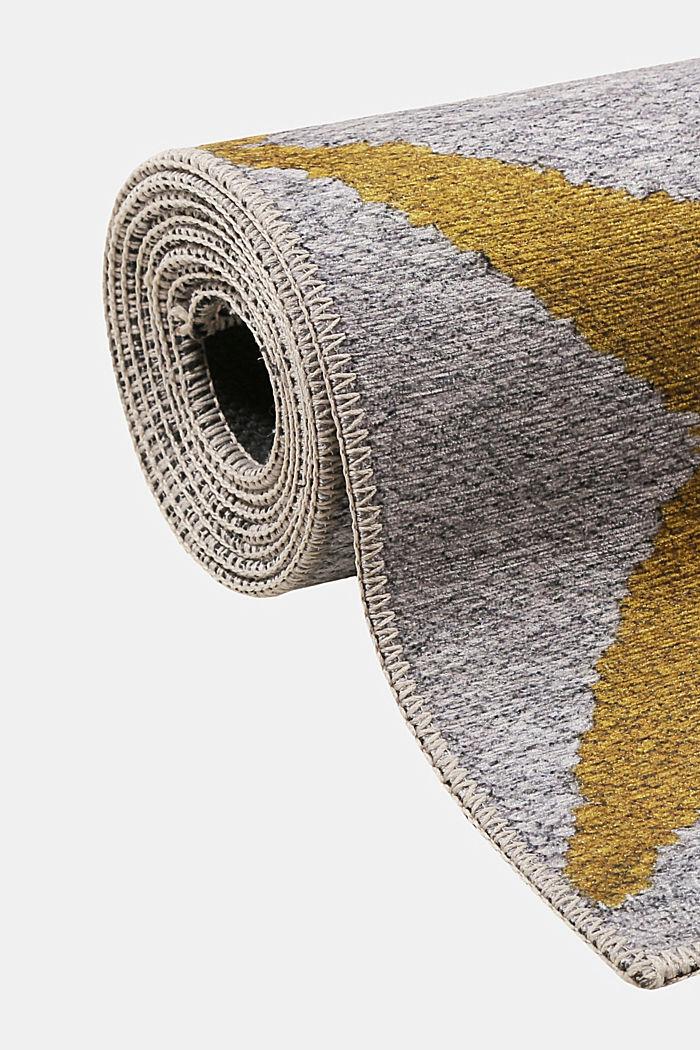 Kurzflor-Teppich mit upgecycelter Baumwolle, HONEY YELLOW, detail image number 3