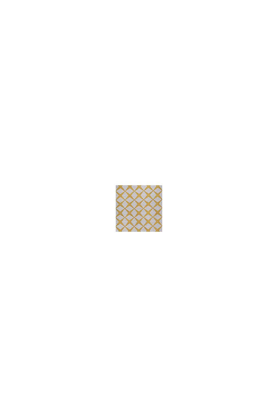 Kurzflor-Teppich mit upgecycelter Baumwolle, HONEY YELLOW, swatch